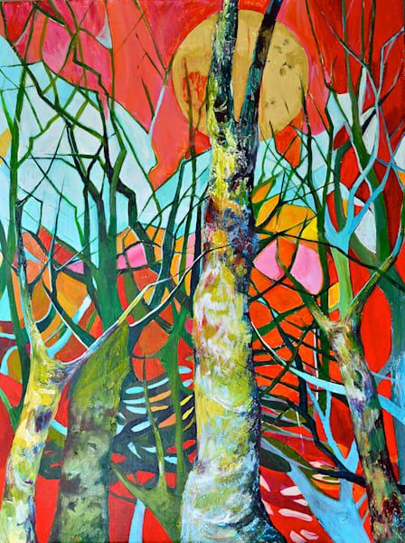 Singing Trees by Julia Hacker | SavvyArt Market Original Art