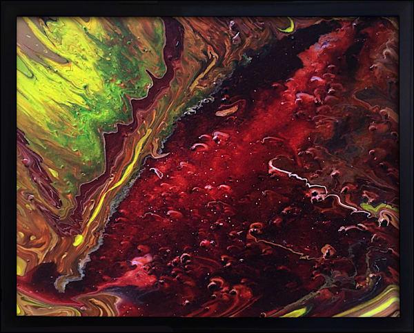Hell Broke Loose fluid painting