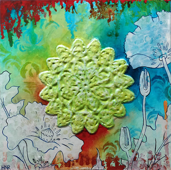 Poppies and Lace, an original art painting by Heather Robinson