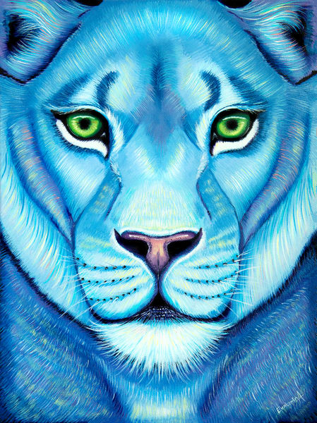 Lioness Oil Paining Print