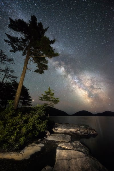 Eagle Lake Milky Way in Maine