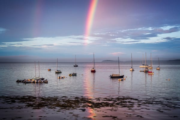 Rainbow Reflections at Bayside Harbor, Maine
