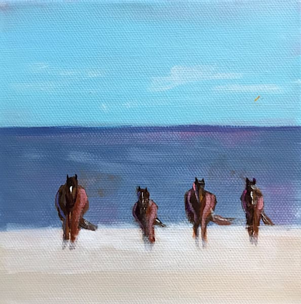 WILDHORSES  6 X 6 SOLD