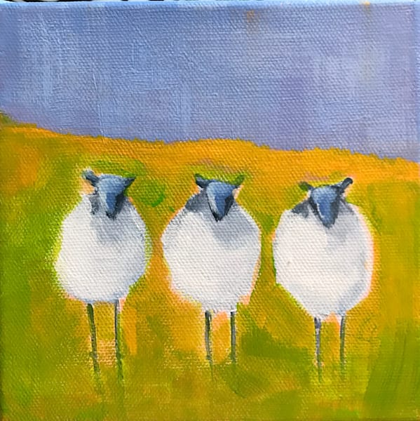 THREE SHEEPS TO THE WIND 6 X 6