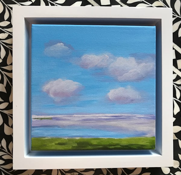 CLOUDS 8 X 8 FRAMED SOLD