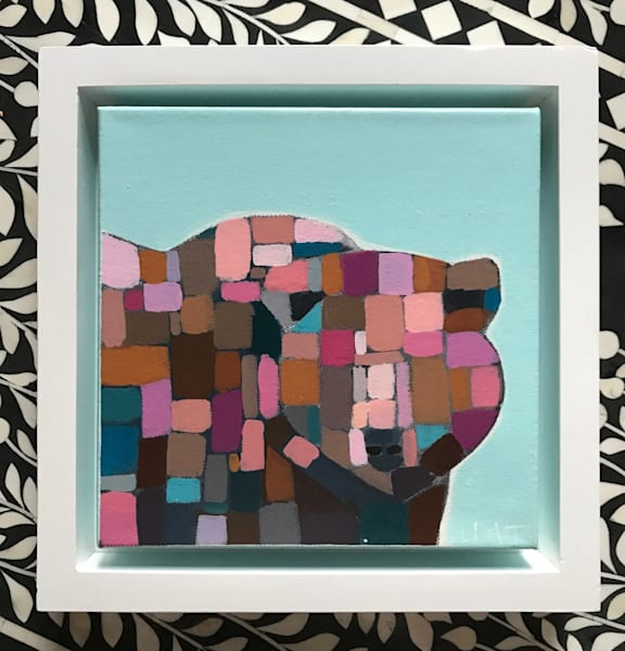 BEAR 8 X 8 FRAMED
