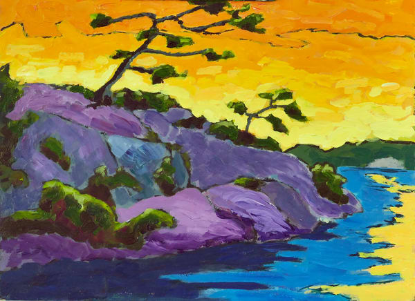 Trees On Colourful Point Art | Keith Thirgood
