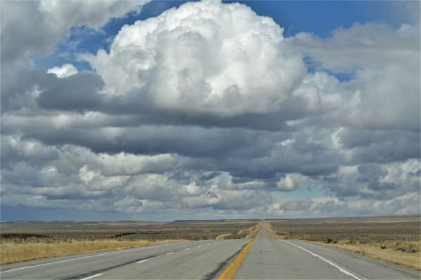 Photograph of the open Wyoming road for sale as Fine Art
