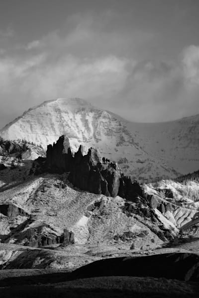 Black and White Photograph of Jim Mountain and the China wall for sale as Fine Art