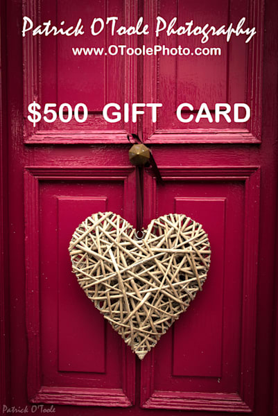 $500 Gift Card | Patrick O'Toole Photography, LLC