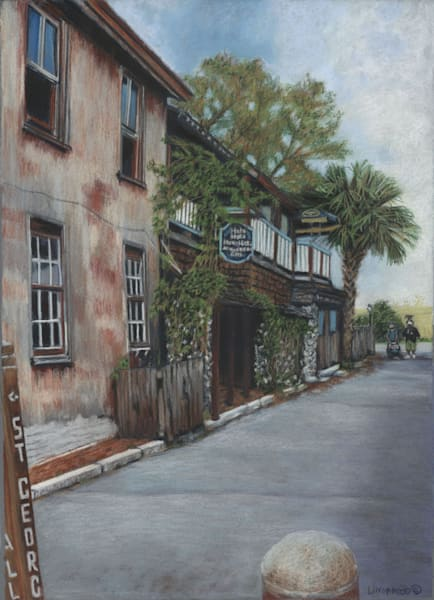 St Augustine Streetscape 2 Art by lindamood art