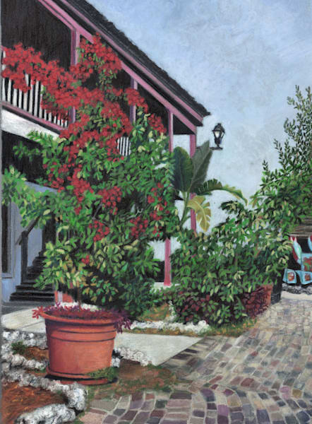 St Augustine Streetscape 1 Art by lindamood art
