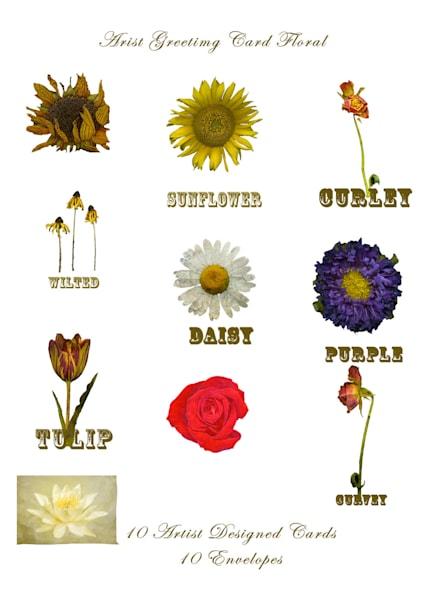 Designer Greeting Card Set Flowers