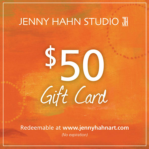 $50 gift card, from Jenny Hahn Studio