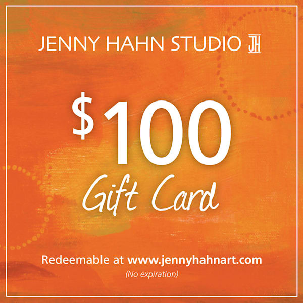 $100 gift card, from Jenny Hahn Studio