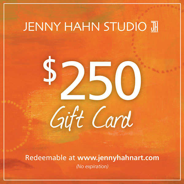 $250 gift card, from Jenny Hahn Studio