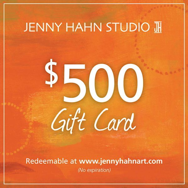 $500 gift card, from Jenny Hahn Studio