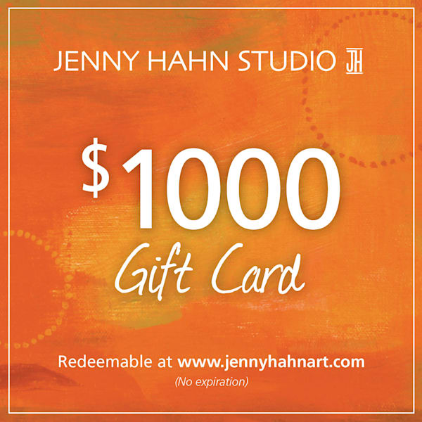 $1000 gift card, from Jenny Hahn Studio