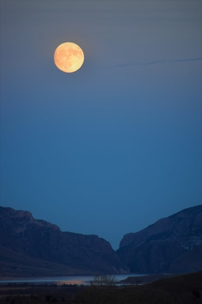 Photograph of a moon and mountains for sale as Fine Art