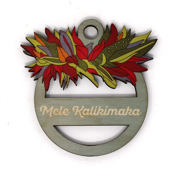 Haku Mele Kalikimaka Ornament