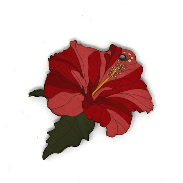 Hibiscus Colorblock Ornament