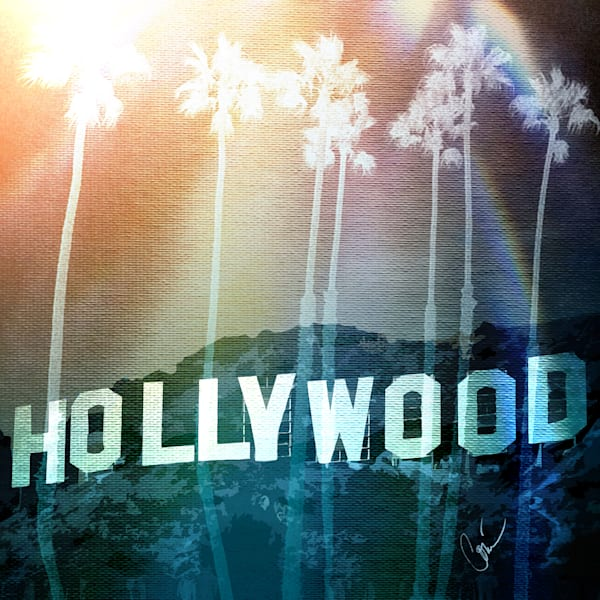 limited edition Hollywood Sunny Palm Trees