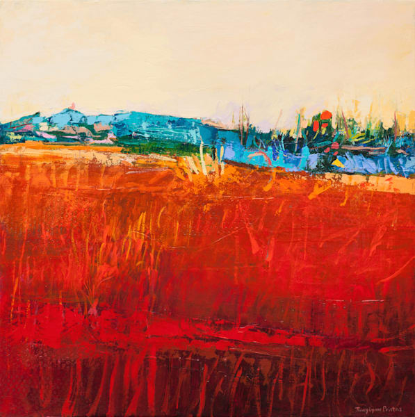 Bright Colored Southwestern Abstract Landscape