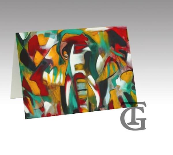 stationery card - elephant