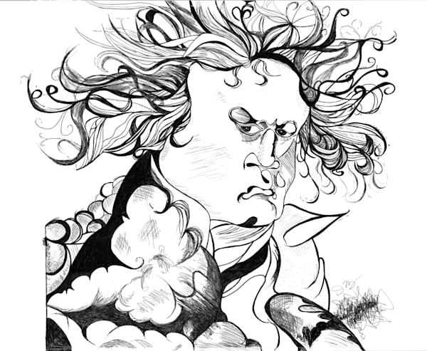 Beethoven By Jeanne Maguire Fine Arts