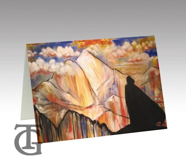 the mountain - stationery card