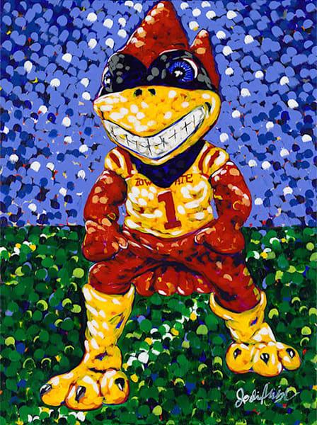Original Acrylic Painting of Iowa State University's mascot Cy