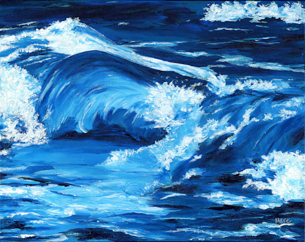 """Lifes' Waves"" is the background painting used for my mask entry into the exhibit in Ft. Collins, CO."
