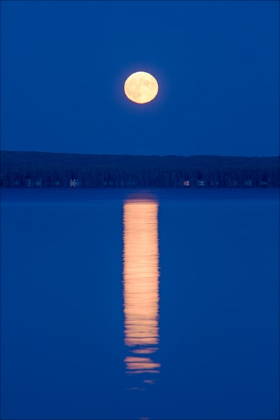 Moonrise over Higgins Lake