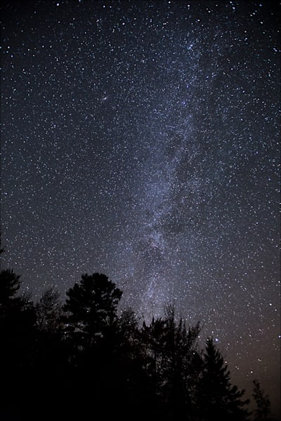 Milky Way over Lake Michigamme