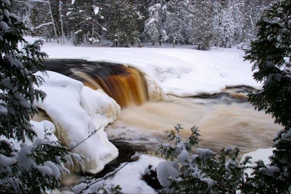 Lower Tahquamenon Falls in Winter