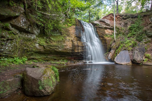 Fine art photos of beautiful Houghton County waterfalls