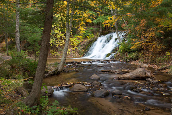 Fine art photos of beautiful Marquette County waterfalls