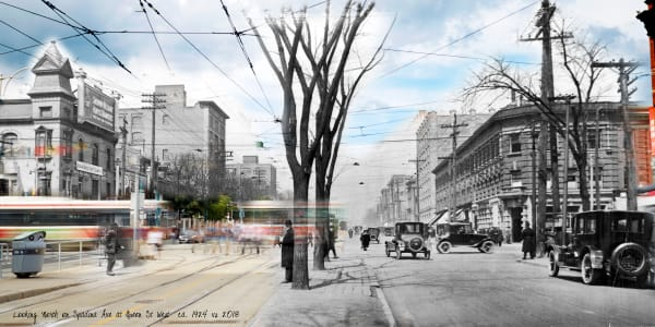 Past Present - Spadina & Queen 1924