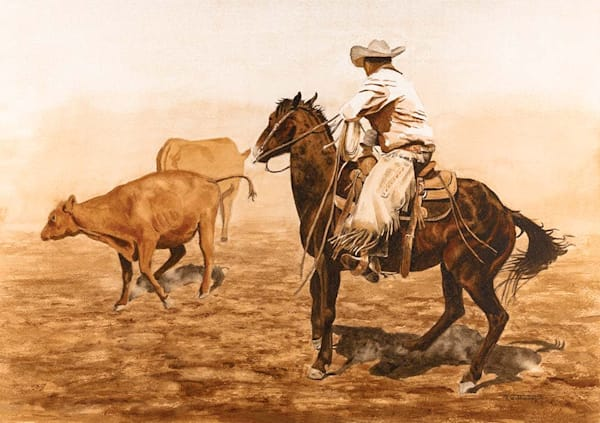The Art of Raymond Wattenhofer Horse and Cattle Watercolor Painting