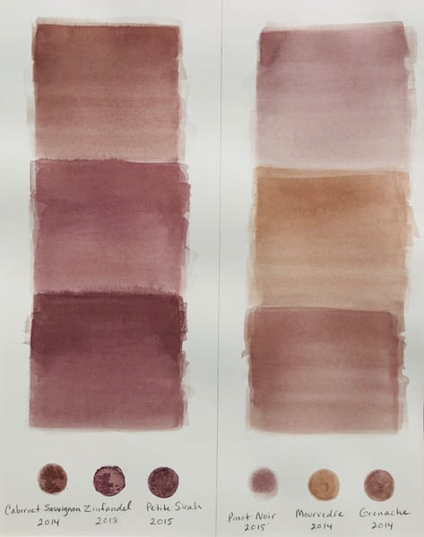 Wine Swatch Test #1 Art | Artiste Winery & Tasting Studio