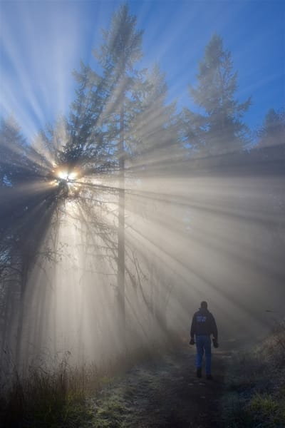 Mt Pisgah, Lane County, Oregon, Eugene, Springfield, Hiking, light rays