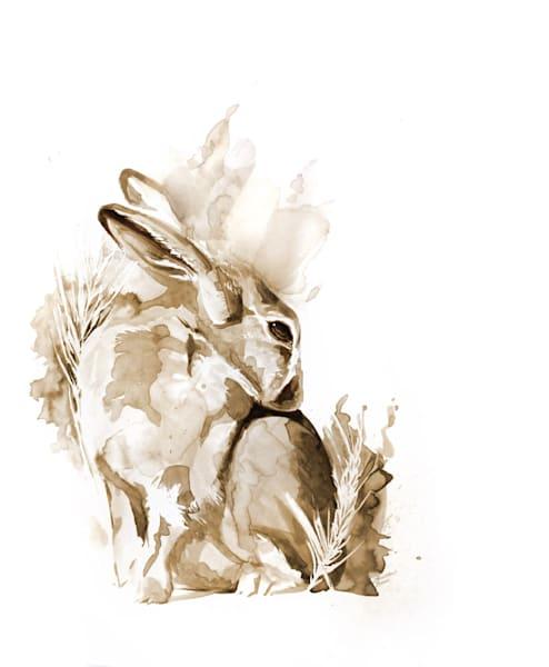 Brown Bunny - Original Coffee Painting