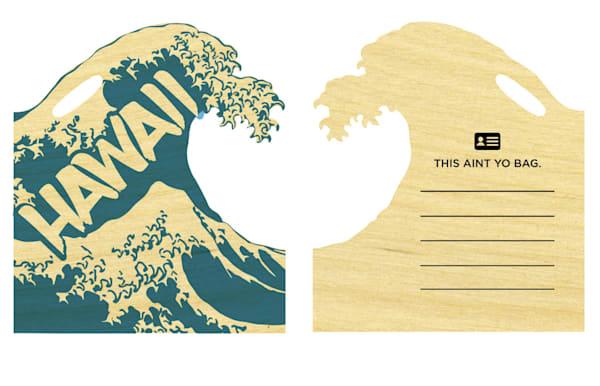 Hawaii Wave Cutout Bag Tag