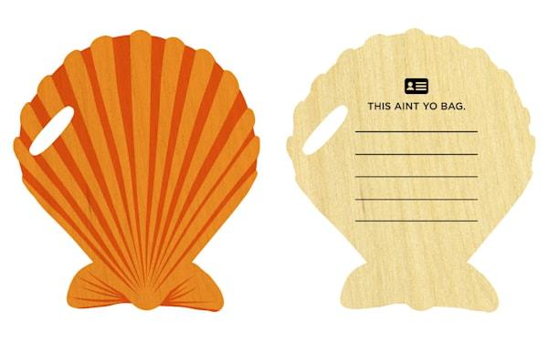 Shell Cutout Bag Tag