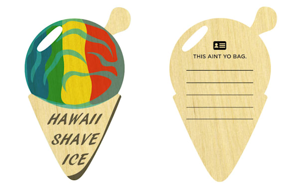 Shave Ice Bag tag