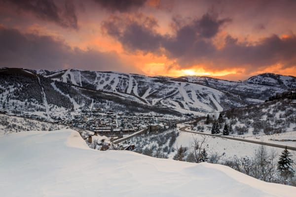 Park City Winter Sunset