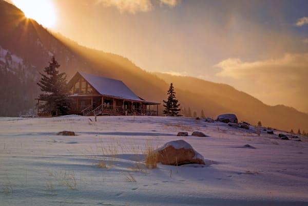 Uinta Log Cabin Sunrise Photography Art | Johnny Adolphson Photography