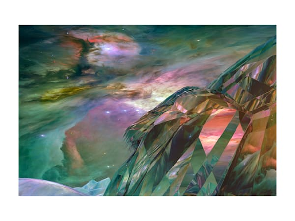 18x24 Emerald Cliffs Of Orion Planet On Paper Art | HFA print gallery