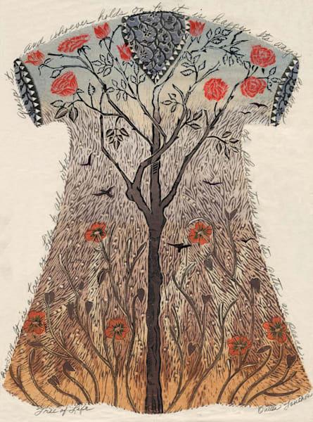 Tree of Life, original artwork, fine art handprints by Ouida Touchon, New Mexico artist.