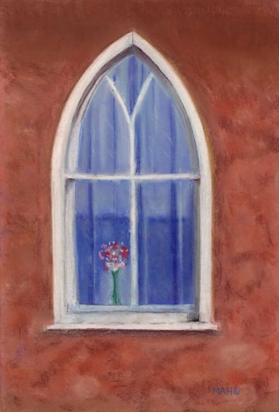 """Mission Window"" fine art print by Mary Anne Hill."